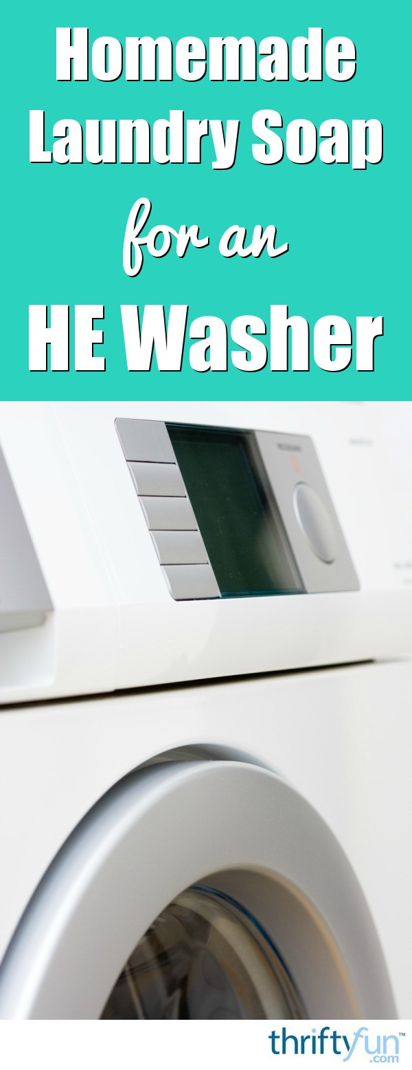 how to make your own laundry detergent for he washers