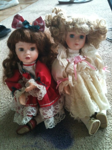 Two dolls.