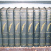 Set of encyclopedias.