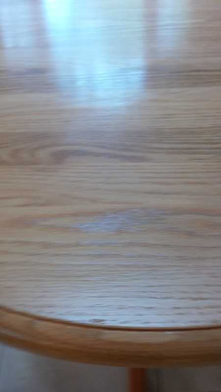 Section of oak table.