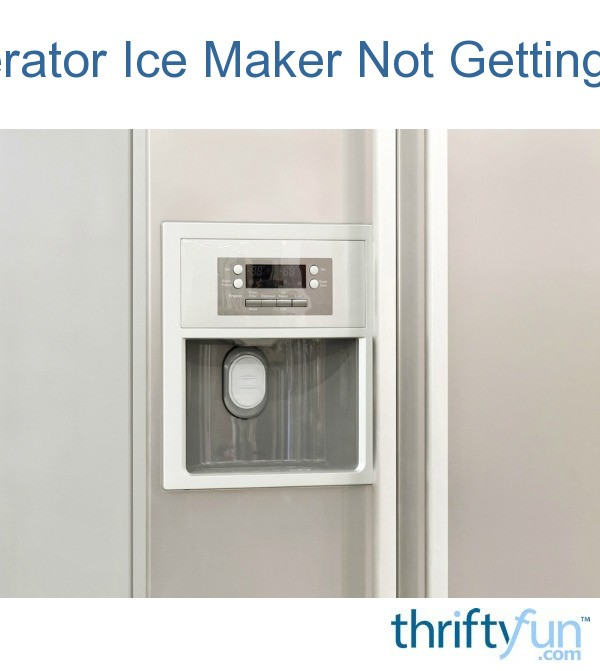 Refrigerator Ice Maker Not Getting Water | ThriftyFun