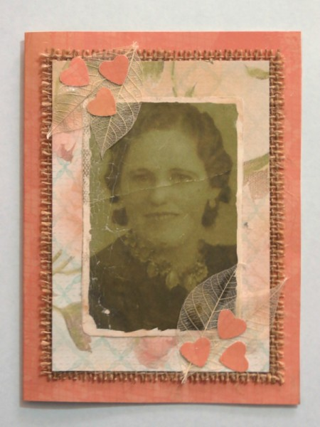 old photo of a woman on the front of a birthday card
