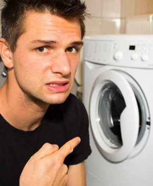 Man Washing Clothes