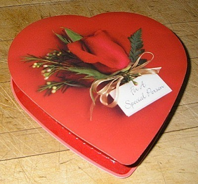 Heart shaped candy box.