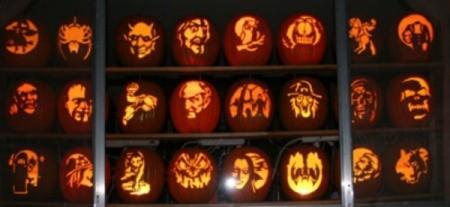 Carved Foam Pumpkins