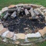 Backyard fire pit.
