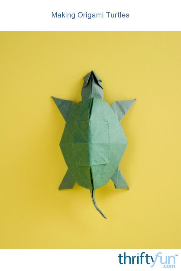 Making Origami Turtles ThriftyFun