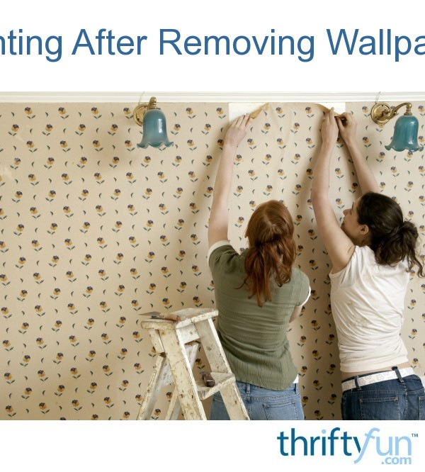 painting after removing wallpaper thriftyfun. Black Bedroom Furniture Sets. Home Design Ideas