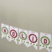Holiday Tag Garland