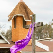Draping an Easter Cross