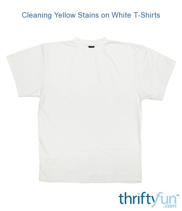 cleaning yellow stains on white t shirts thriftyfun