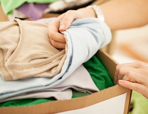 A Cardboard Box Full Of D Clothing