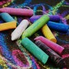 Sticks of chalk.