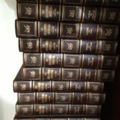 Several volumes of encyclopedia.
