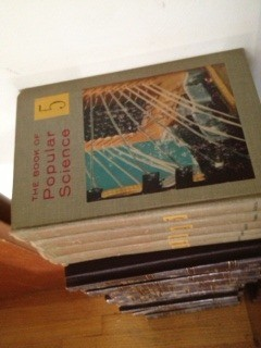 Closeup of the cover on one volume.