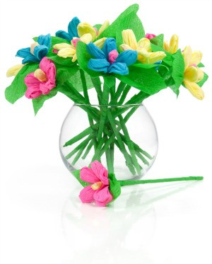 Paper Flowers in a Vase