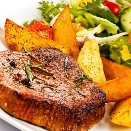 Braised Pork Chop, Potatoes and Vegetables