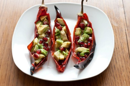 Stuffed Red Chili Peppers
