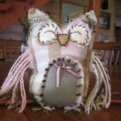 Stuffed scarf owl.