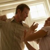 Boyfriend hitting his girlfriend.