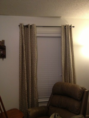 Living room curtains.
