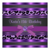 Birthday wish in purple.