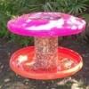 frisbee bird feeder