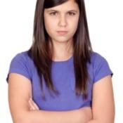 disgruntled teen