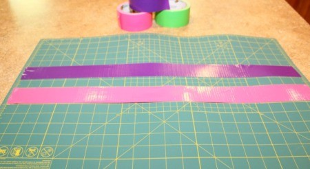 roll out tape to cut
