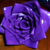 Duct Tape Rose - purple tape rose