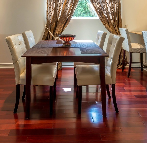 A Dining Room With Hardwood Floors
