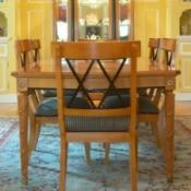 Oak dining room furniture.