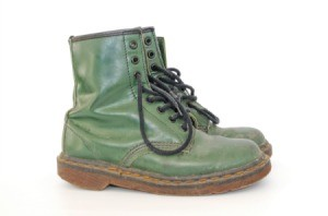 Large Doc Martin boots.