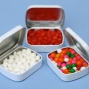 wedding favor candy tins