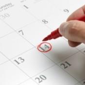 Circling Calendar Date in Red