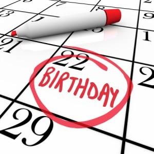Birthday Reminder on Calendar