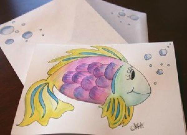 Fish notecard.