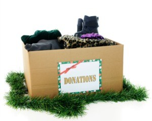 Christmas donation box.