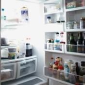 An open refrigerator.