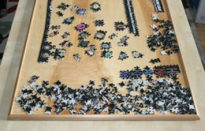 upclose of puzzle board