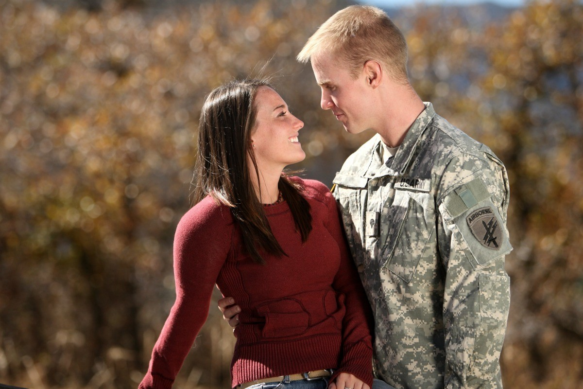 Standing With Her Solr Boyfriend Military Jewelery Source Valentine