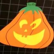 Paper Jack-O-Lantern Craft