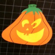 Paper Jack-O-Lantern