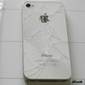 Cracked iPhone Back