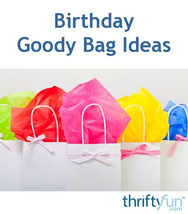 Birthday Goody Bag Ideas