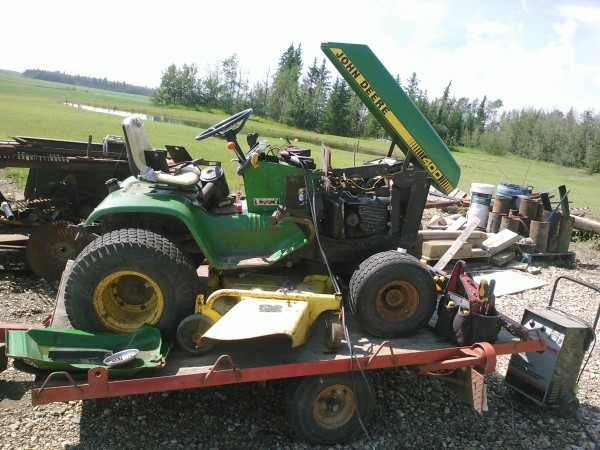 Riding Mower On Trailer