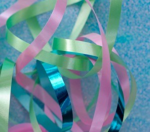 Colorful ribbon.