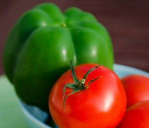 Green Pepper and Tomatoes
