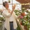 Master gardener in a greenhouse.