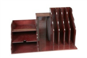 Varnished Desk Organizer